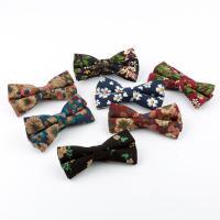 Krawatte, Baumwolle, Kunstdruck, verschiedene Muster für Wahl & mit Blumenmuster & für den Menschen, 65x120mm, verkauft von PC