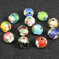 Cloisonne Perlen, Cloisonné, rund, handgemacht, keine, 10mm, Bohrung:ca. 1mm, 100PCs/Tasche, verkauft von Tasche