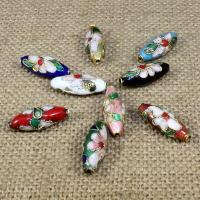 Cloisonne Perlen, Cloisonné, oval, keine, 20x8mm, Bohrung:ca. 1.5mm, 30PCs/Tasche, verkauft von Tasche