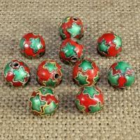 Cloisonne Perlen, Cloisonné, rund, handgemacht, keine, 10mm, Bohrung:ca. 1.5mm, 20PCs/Tasche, verkauft von Tasche