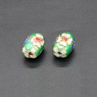 Cloisonne Perlen, Cloisonné, Trommel, handgemacht, keine, 13x10mm, Bohrung:ca. 1.5mm, 10PCs/Tasche, verkauft von Tasche