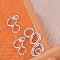 925 Sterlingsilber Biegering, 925 Sterling Silber, Kreisring, verschiedene Größen vorhanden, 40PCs/Tasche, verkauft von Tasche