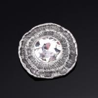 Kristall Brosche, Zinklegierung, mit Kristall, plattiert, Bläu & für Frau & facettierte, keine, frei von Blei & Kadmium, 55x55mm, verkauft von PC