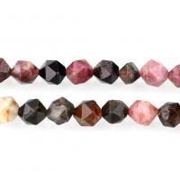 Turmalin Perle, natürliche & verschiedene Größen vorhanden & facettierte, Bohrung:ca. 1mm, verkauft per ca. 15 ZollInch Strang