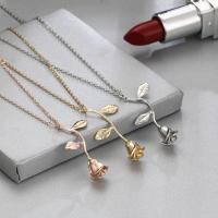 Zinklegierung Schmuck Halskette, mit Verlängerungskettchen von 1.9lnch, Rose, plattiert, Oval-Kette & für Frau, keine, frei von Nickel, Blei & Kadmium, 35mm, verkauft per ca. 18.1 ZollInch Strang