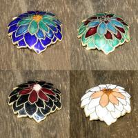 Cloisonné Anhänger, Blume, 24 K vergoldet, keine, 30x30mm, Bohrung:ca. 1mm, 10PCs/Tasche, verkauft von Tasche
