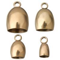 Edelstahl Endkappe, Rósegold-Farbe plattiert, verschiedene Größen vorhanden, 100PCs/Menge, verkauft von Menge