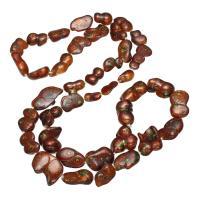 Süßwasserperlen Pullover Halskette, Natürliche kultivierte Süßwasserperlen, gefärbt & für Frau, 12-20mm, verkauft per ca. 32 ZollInch Strang