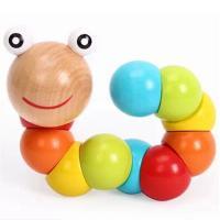 Lernen \u0026 Lernspielzeug, Holz, Raupe, Einbrennlack, für Kinder, frei von Nickel, Blei & Kadmium, 185x36mm, verkauft von PC