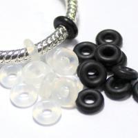 Gummi Verbindungsring, Kreisring, gemischte Farben, 500PCs/Tasche, verkauft von Tasche