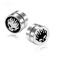 Magnetische Ohrring , Titanstahl, unisex & verschiedene Stile für Wahl & Emaille, originale Farbe, 8mm, verkauft von PC