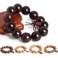 Holz Armbänder, mit Nylonschnur, plattiert, elastisch & verschiedenen Materialien für die Wahl & für den Menschen, 20mm, verkauft per ca. 7.5 ZollInch Strang