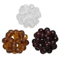 Kristall Cluster Perlenball, gemischt, 34mm, 5PCs/Menge, verkauft von Menge