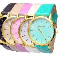 Geneva® Frauenuhr, PU Leder, mit Glas, goldfarben plattiert, für Frau, keine, 36mm, Länge:ca. 9.4 ZollInch, verkauft von PC