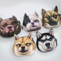Geldbörse, Plüsch, mit Polyester, Hund, Mit smileygesicht & verschiedene Muster für Wahl, 120x130mm, verkauft von PC