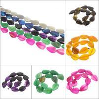 Natürliche Streifen Achat Perlen, Tropfen, keine, 20x30x5mm-23x33x6mm, Bohrung:ca. 2mm, ca. 13PCs/Strang, verkauft per ca. 16 ZollInch Strang