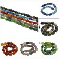 Natürliche Streifen Achat Perlen, keine, 15x24mm-13x21mm, Bohrung:ca. 2mm, ca. 20PCs/Strang, verkauft per ca. 16.5 ZollInch Strang