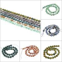 Natürliche Tibetan Achat Dzi Perlen, rund, facettierte, keine, 10mm, Bohrung:ca. 1mm, ca. 38PCs/Strang, verkauft per ca. 14.9 ZollInch Strang