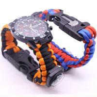Paracord mit Feuer-starter & mit Trillerpfeife & mit Kompass, keine, 40mm, Länge:ca. 9 ZollInch, verkauft von PC