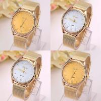 Geneva® Unisex Uhr, Zinklegierung, mit Glas, goldfarben plattiert, mit Strass, keine, frei von Blei & Kadmium, 43mm, Länge:ca. 9.3 ZollInch, verkauft von PC