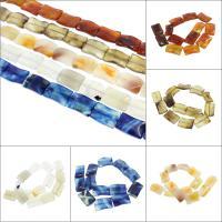 Natürliche Streifen Achat Perlen, keine, 21x31x7mm, Bohrung:ca. 2mm, 13PCs/Strang, verkauft per ca. 15.7 ZollInch Strang