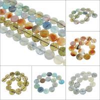 Natürliche Drachen Venen Achat Perlen, Drachenvenen Achat, flache Runde, keine, 26x6mm, Bohrung:ca. 2mm, 15PCs/Strang, verkauft per ca. 14.9 ZollInch Strang
