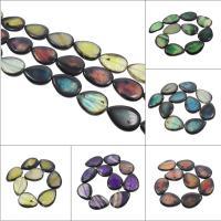 Natürliche Drachen Venen Achat Perlen, Drachenvenen Achat, keine, 32x42x8mm, Bohrung:ca. 2mm, 9PCs/Strang, verkauft per ca. 14.5 ZollInch Strang