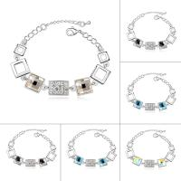 CRYSTALLIZED™ Kristall Armband, Messing, mit CRYSTALLIZED™, mit Verlängerungskettchen von 5cm, platiniert, für Frau & facettierte, keine, frei von Nickel, Blei & Kadmium, 22mm, verkauft per ca. 6 ZollInch Strang