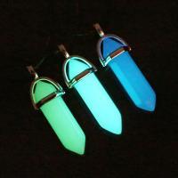 Fluoreszierende Pulver Stein, mit Zinklegierung, glänzend, keine, 40x13mm, Bohrung:ca. 1mm, verkauft von PC