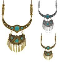 Mode Türkis Halskette, Zinklegierung, mit Eisenkette & Synthetische Türkis, mit Verlängerungskettchen von 5cm, plattiert, Schlangekette & für Frau, keine, frei von Blei & Kadmium, 51cm, verkauft per ca. 20 ZollInch Strang