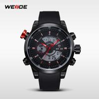 Weide® Uhrenkollektion, Silikon, mit Zinklegierung Zifferblatt & Glas, plattiert, 30 m wasserdicht & einstellbar & LED & für den Menschen, keine, 49.5x49.5x16.8mm, 22mm, Länge:ca. 8.6 ZollInch, verkauft von PC