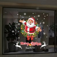 Fensteraufkleber, PVC Kunststoff, Klebstoff & Weihnachtsschmuck & mit Brief Muster & wasserdicht, 500x700mm, verkauft von setzen