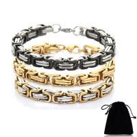 Titan Edelstahl Armband, Titanstahl, mit Baumwollsamt, poliert, unisex & verschiedene Größen vorhanden, keine, verkauft von Strang
