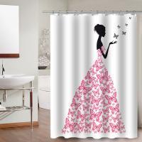 Duschvorhang, Polyester, Rechteck, verschiedene Muster für Wahl & wasserdicht, 180x150cm, verkauft von PC
