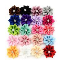 Mode Dekoration Blumen, Satinband, mit Strass, keine, 25mm, 10PCs/Menge, verkauft von Menge