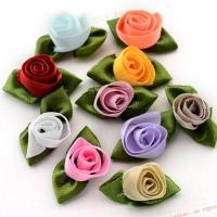 Mode Dekoration Blumen, Satinband, für Kinder, keine, 34x17mm, 500PCs/Tasche, verkauft von Tasche