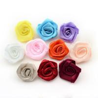 Mode Dekoration Blumen, Satinband, für Kinder, gemischte Farben, 30mm, 200PCs/Tasche, verkauft von Tasche