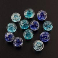Handgewickelte Perlen, Lampwork, rund, handgemacht, glänzend, keine, 12mm, Bohrung:ca. 1.5mm, 100PCs/Tasche, verkauft von Tasche
