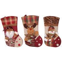 Nichtgewebte Stoffe Weihnachten Socke, Weihnachtssocke, verschiedene Muster für Wahl, 46x26cm, verkauft von PC