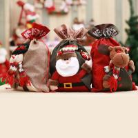Stoff Christmas Gift Bag, verschiedene Muster für Wahl, 40x27cm, verkauft von PC