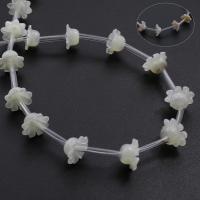Muschel Perle, Blume, verschiedenen Materialien für die Wahl, Bohrung:ca. 0.5mm, 25PCs/Strang, verkauft per ca. 14.9-15.7 ZollInch Strang