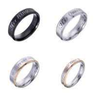 Edelstahl Ringe, 316 L Edelstahl, plattiert, unisex & verschiedene Größen vorhanden & verschiedene Stile für Wahl, verkauft von PC