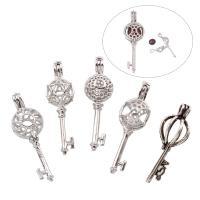 Zinklegierung Anhänger Zubehör, Schlüssel, plattiert, verschiedene Stile für Wahl & hohl, frei von Blei & Kadmium, Bohrung:ca. 1.5x2.5-2x3mm, verkauft von PC