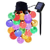 LED Globe und Sternenhimmel Lichterketten Dekorative Draht Lichter Strings Lichter, ABS Kunststoff, Solar angetrieben & wasserdicht, keine, 24mm, verkauft per ca. 6 m Strang