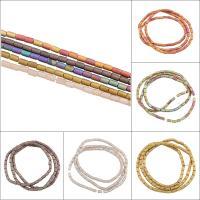 Kristall-Perlen, Kristall, Zylinder, satiniert, mehrere Farben vorhanden, 3x5mm, Bohrung:ca. 1mm, 100PCs/Strang, verkauft von Strang