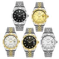 TEVISE® Uhrenkollektion, Edelstahl, mit Glas, plattiert, 30 m wasserdicht & stem-Winder & für den Menschen & mit Strass, keine, 38x38x15mm, 20mm, Länge:ca. 7 ZollInch, verkauft von PC