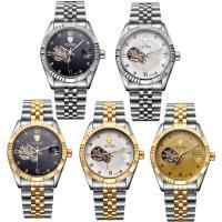 TEVISE® Uhrenkollektion, Edelstahl, mit Glas, plattiert, 30 m wasserdicht & stem-Winder & für den Menschen, keine, 38x38x13mm, Länge:ca. 9.4 ZollInch, verkauft von PC