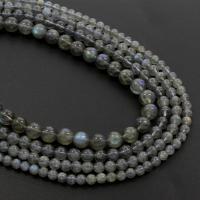 Labradorit Perlen, rund, verschiedene Größen vorhanden, Grade A, Bohrung:ca. 1mm, verkauft per 15.5 ZollInch Strang