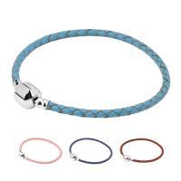 Leder Europa Armband-Schnur, mit Messing, platiniert, unterschiedliche Länge der Wahl & Strahlenschutz & für Frau, keine, 20mm, verkauft von Strang