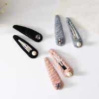 Klick Klack Spange, Zinklegierung, mit ABS-Kunststoff-Perlen & Spitze, mit Strass, keine, frei von Blei & Kadmium, 95mm, 3PaarPärchen/Tasche, verkauft von Tasche